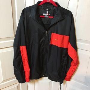Men's Nike Black & Red Nylon Zip Jacket